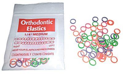 neon dental elastics